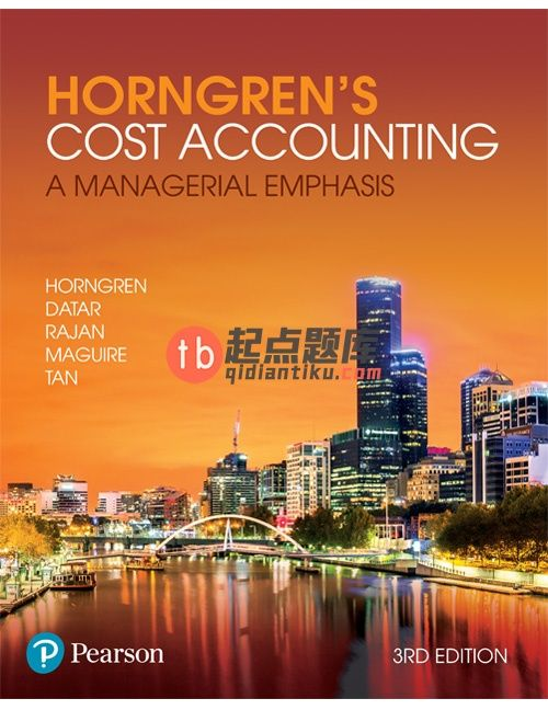 Solution Manual For Horngren S Cost Accounting A Managerial