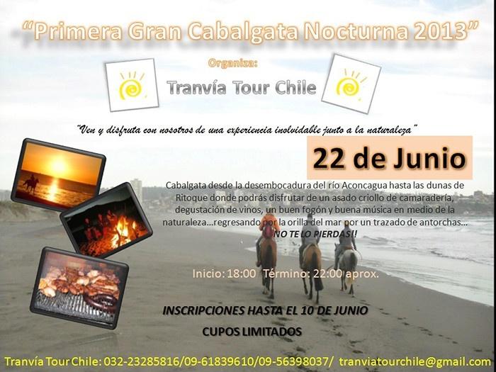 Tranvía Tour Chile - Conoce nuestro mundo Cabalgata al ocaso el 22 de junio 2013