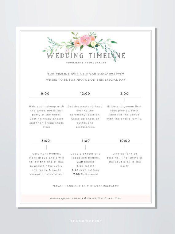 Wedding Photography Timeline Template Wedding Photographer Etsy In 2020 Wedding Photography Pricing Photography Timeline Wedding Photography Contract