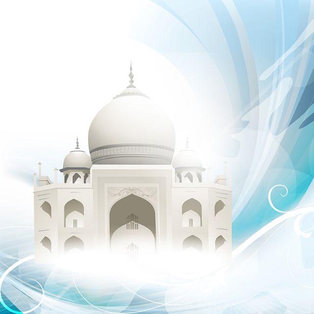 مسجد أبيض التوضيح خلفية التصميم الجرافيكي عرب هندسة معمارية الخلفية Png صورة للتحميل مجانا Ramadan Background Graphic Design Background