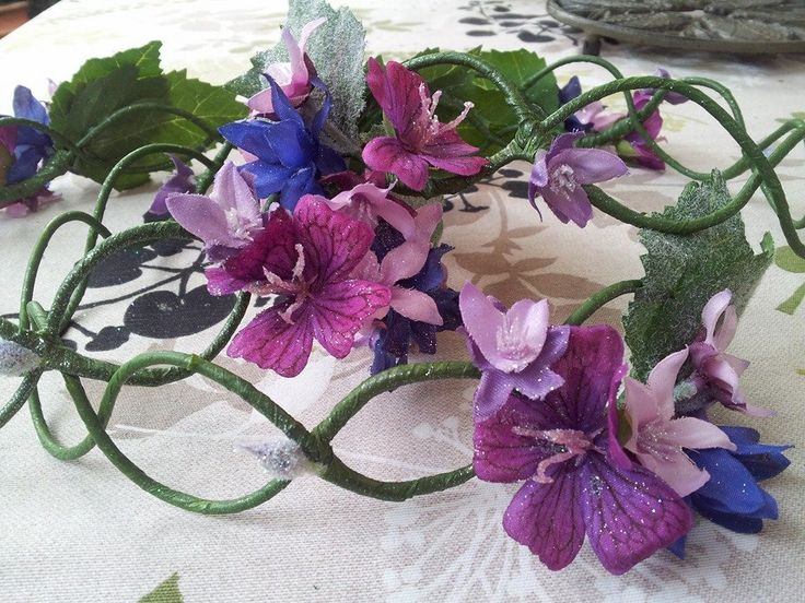 the bridesmaids' floral crowns