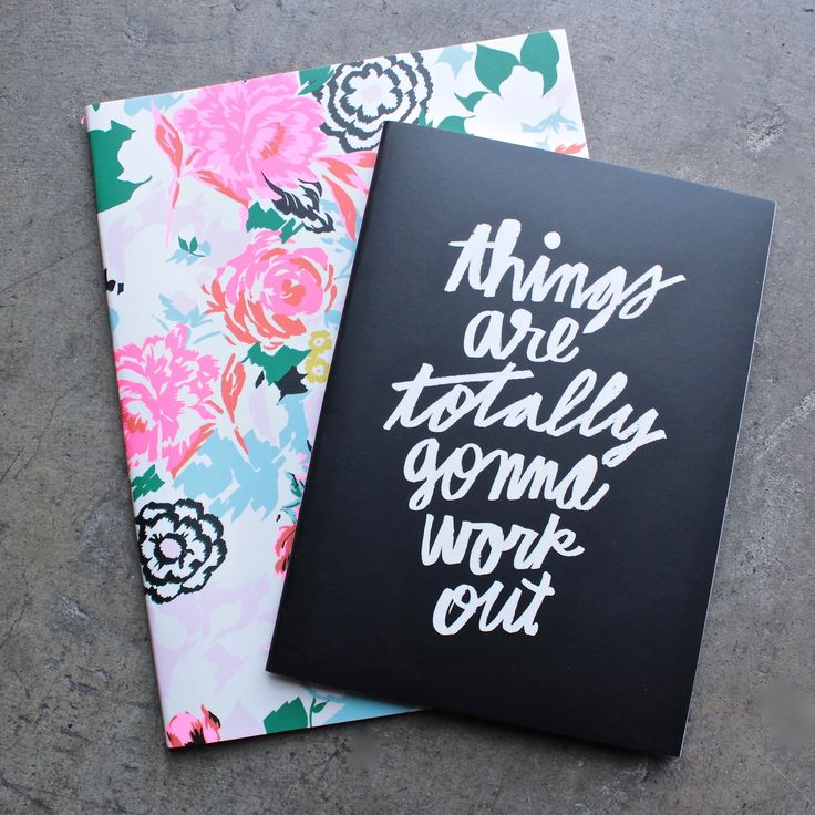 ban.do good ideas notebook set - florabunda + things are totally gonna work out
