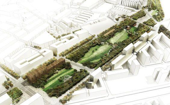 La Sagrera Linear Park design competition | Barcelona Spain | AldayJover, RCR and West 8 - St Martil Agora
