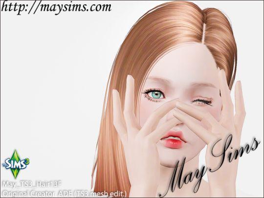 Mayims: 심즈3 헤어 (Sims 3 Hair) - May_TS3_Hair13F