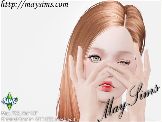 Mayims: 심즈3 헤어 (Sims 3 Hair) - May_TS3_Hair13F