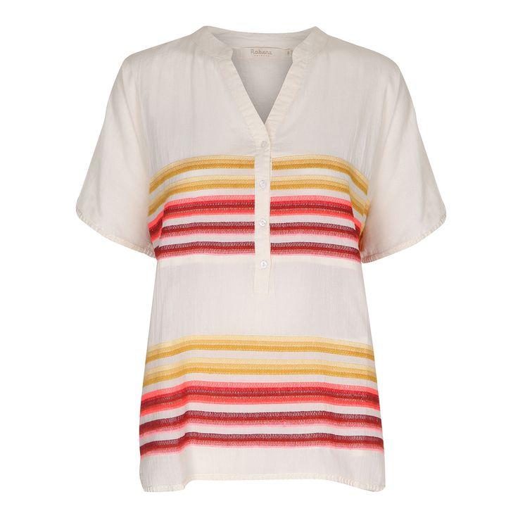 Rabens Saloner Striped Blouse - plum.boutique