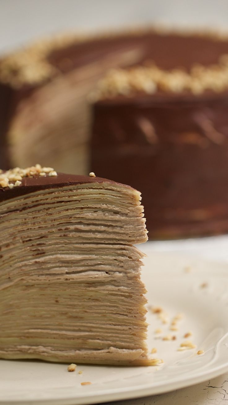 Ever made a cake out of crepes?! You need to make this ASAP