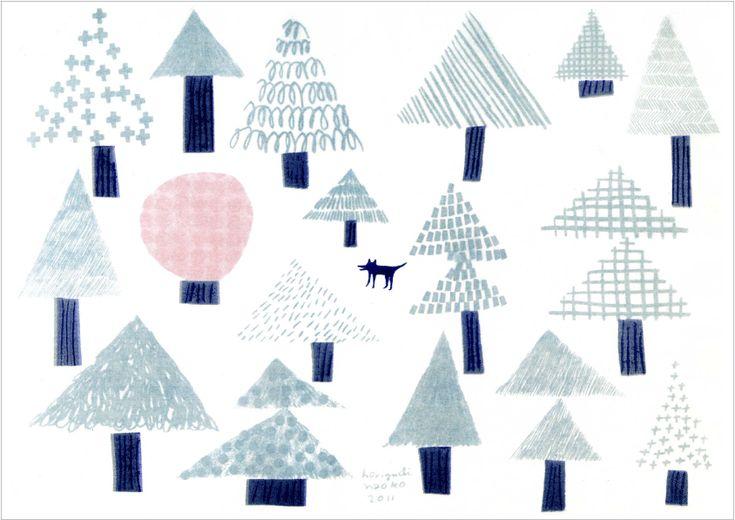trees by Naoko Horiguchi