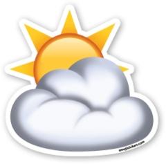 Sun Behind Cloud   Emoji Stickers