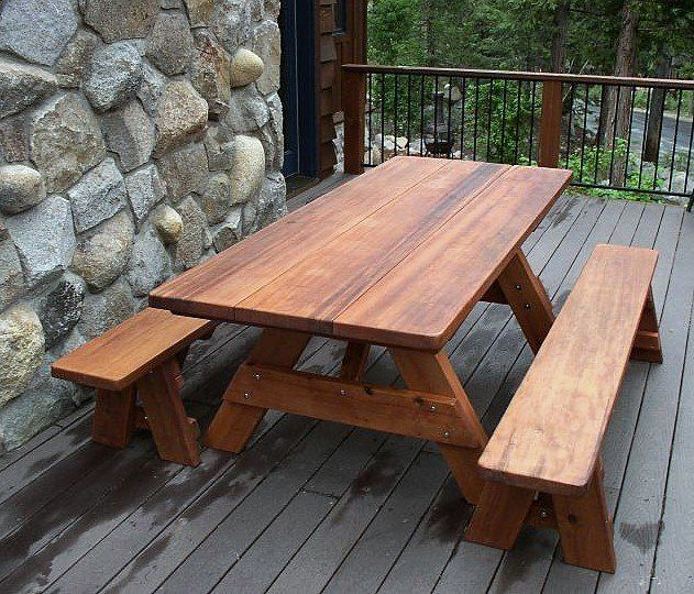 Shop Online For Rectangular Picnic Tables At Forever Redwood. Hand Crafted  Heritage Large Wooden Picnic Table Available In Custom Sizes, Shapes, ...