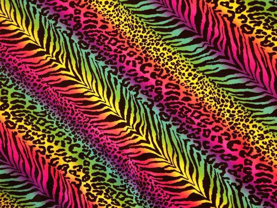 Un arc en ciel coloré dimprimés zèbre et léopard, Guépard. Un lycra très polyvalent 4 way stretch tissu pour maillots de bain, hauts, jupes, robes, leggings, costumes, dancewear, activewear, etc.. Largeur : 60 total 59 cuttable longueur: 1 yard unités dimpression se répète chaque fabricant 24 pouces Poids moyen 4-way Stretch : Marimar mon prix dinscription est par yard. Toutes les commandes multiples dyardage seront coupés en un seul morceau continu. plus les femmes et les adolescents de…