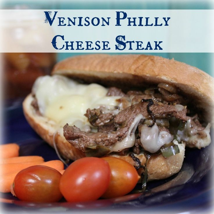 Tender venison steaks sliced thin, cooked in a hot skillet with perfectly caramelized bell peppers and onions, topped with melted Provolone cheese and served on a hot hoagie bun.