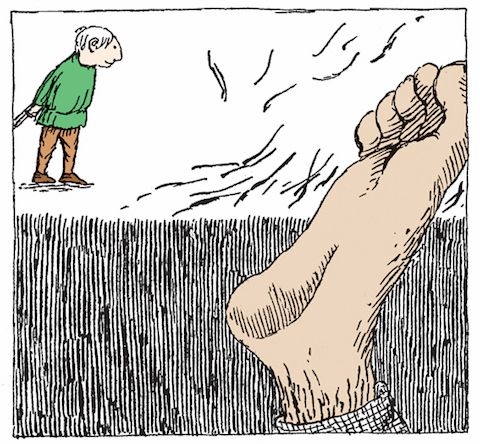 Little Red Riding Hood, Jack the Giant Killer, and Rumpelstiltskin are retold by whimsical master of the macabre Edward Gorey and writer James Donnelly in the book Three Classic Children's Stories. gorey2