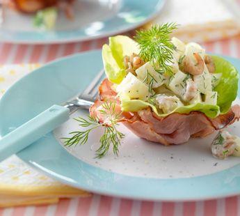 Baconnestjes met aardappelsalade - Recept - Jumbo Supermarkten
