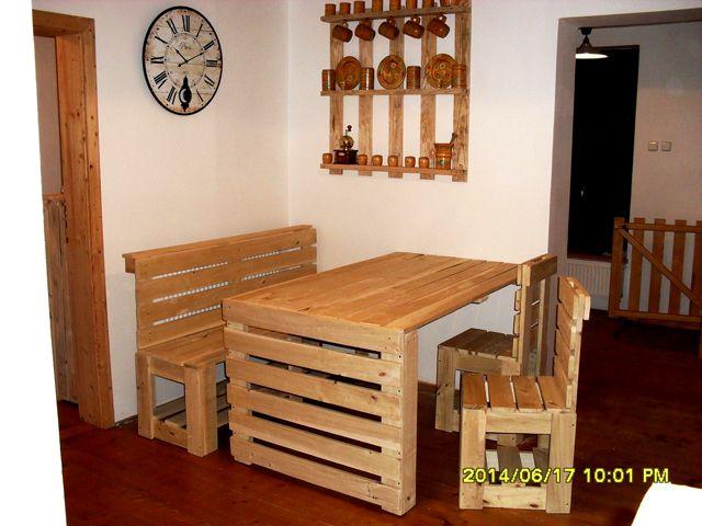 Stoly - stolky | Jídelní stůl z palet Petr | Dřevěný nábytek v designu palet