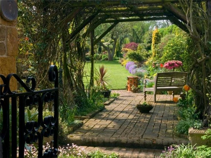 English Cottage Garden Pergola English Countryside