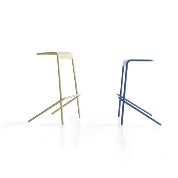 Discover All The Information About The Product Contemporary Bar Stool /  Metal / Stackable / White ALODIA By Todd Bracher   Cappellini And Find  Where You Can ...