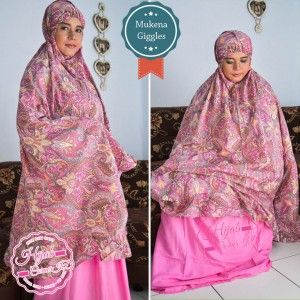 Mukena Giggles Motif Bunga Paisley Pink