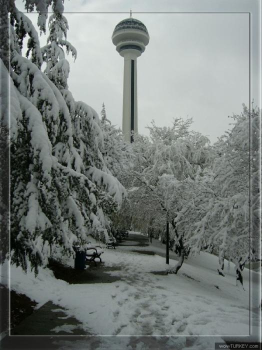 Atakule-Ankara TURKEY #snow #white