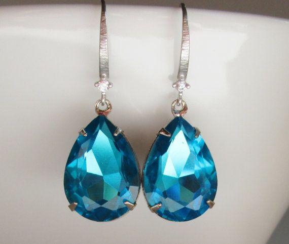 Blue Earring Sapphire Earring Blue Topaz by SpiritSparkleWhimsy