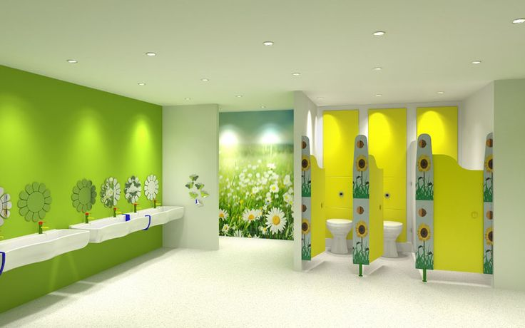 Nursery toilet cubicle designed for children with exclusive door patterns (Happy Everything) by Cubicle Centre | Pinterest | Cubicles, Nurseries and Doors