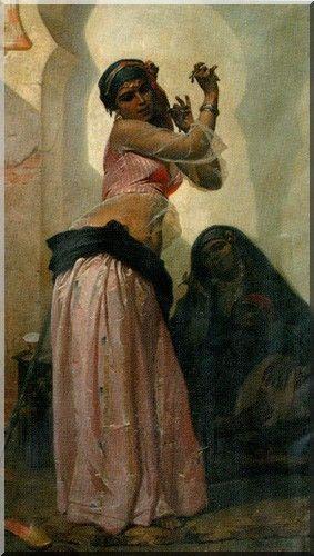 Eugène Giraud, Danseuse au Caire (1866, huile sur toile, musée de Toulon)