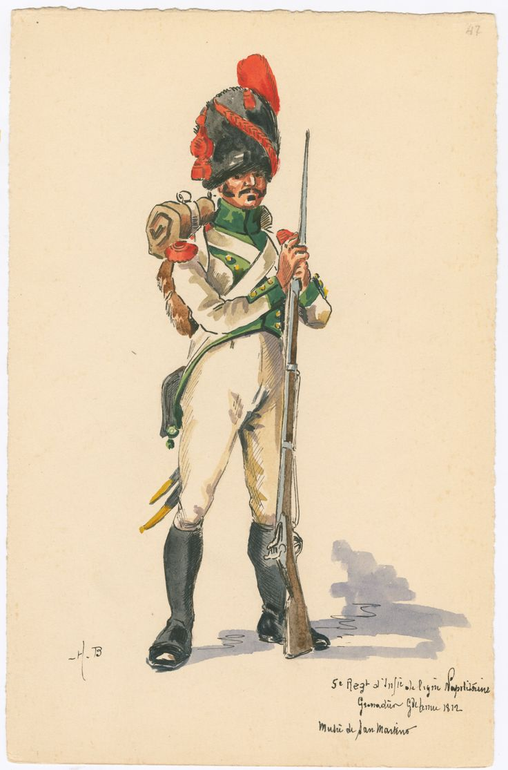Naples, 5th Line Infantry, Grenadier, Full Dress 1812