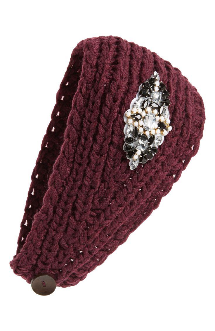 Winter bling | Embellished knit head wrap.