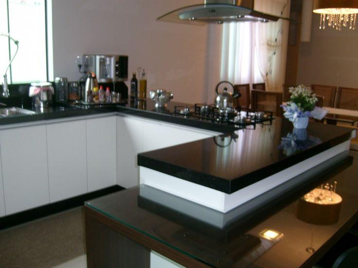 Cozinha - Granito Preto São Gabriel -  Marmoraria Pedra Polida - Brusque SC