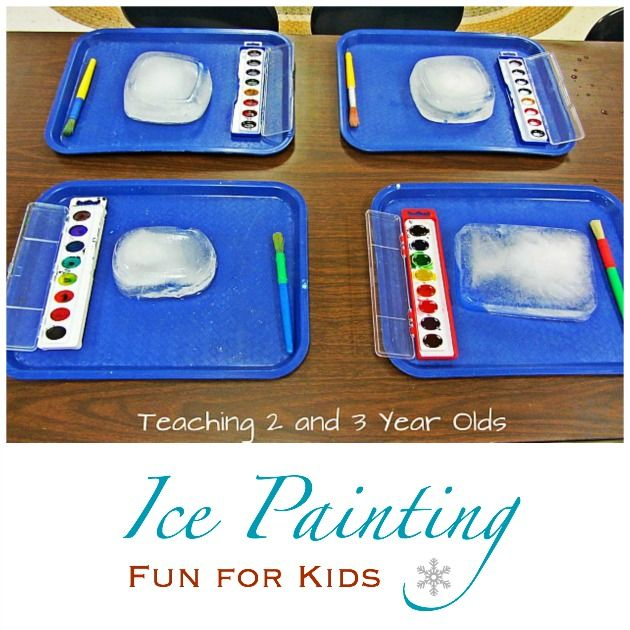 Ice painting activity for kids. Featured by Special Learning House. www.speciallearninghouse.com.