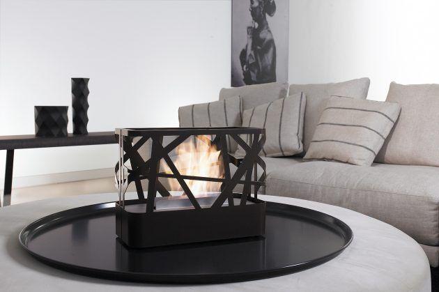 Designer Kaminofen - Ofen mit Bioethanol - Tischkamin - Wohnzimmer - artepuro