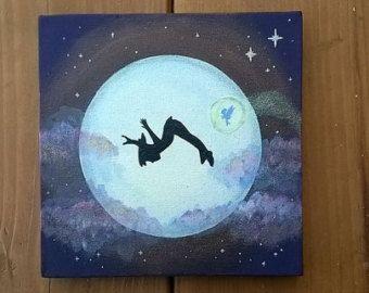 Peter Pan Set von 3 Leinwand Gemälde Sie wissen von StarlingNight