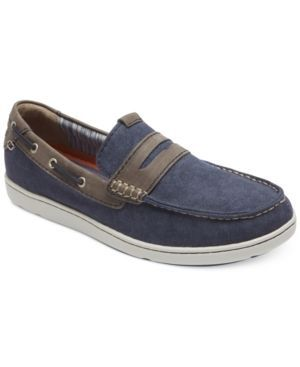 Rockport Men's Gryffen Penny Slip-On Loafers - Blue 10.5