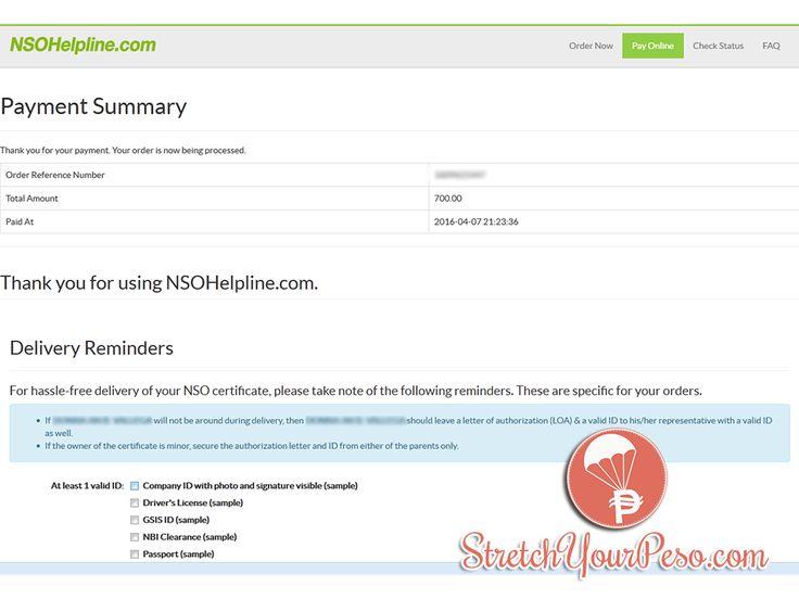 Viac ako 25 najlepších nápadov na tému Nso birth certificate na - delivery order sample