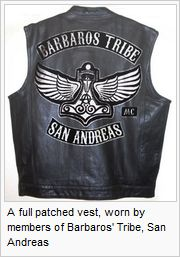 What do the patches on the mongols mc leather jacket mean