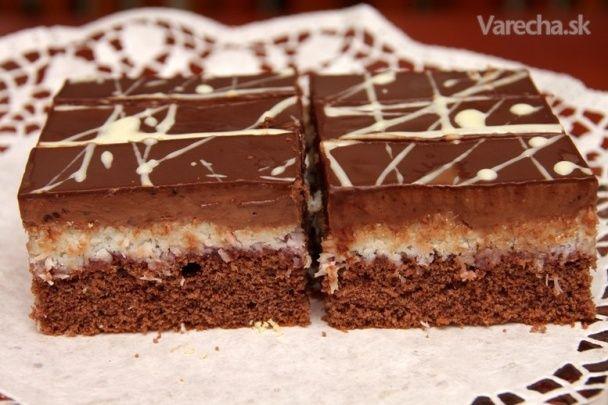 Čokoládovo-kokosové rezy - Recept