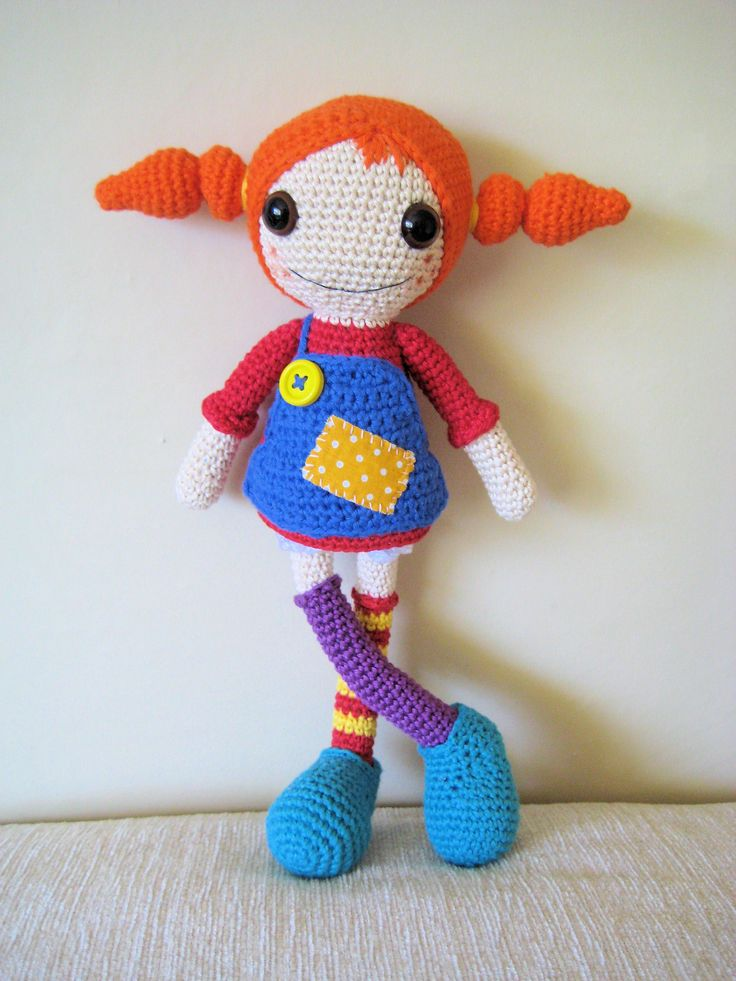 Crochet Pippi longstocking https://www.facebook.com/noobibeebi/posts/360416197496893
