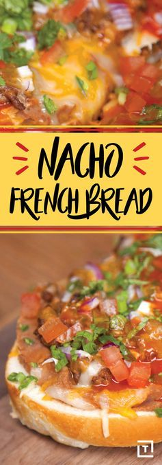 How to Make Nacho French Bread Recipe - Thrillist