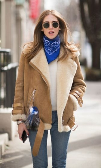 Out In The Cold Camel Brown Ivory Shearling Faux Fur Suede Long Sleeve Buckle…
