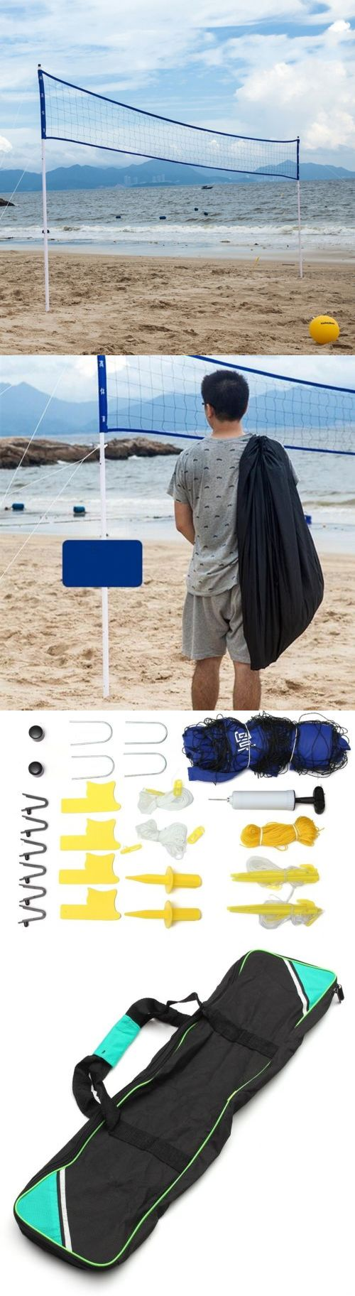 Nets 159131: Outdoor Beach Volleyball Set Professional Volleyball Competition Accessories -> BUY IT NOW ONLY: $91.58 on eBay!