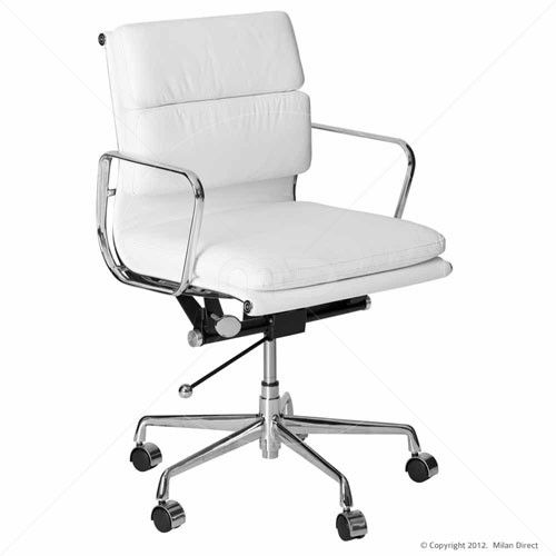 SOFT PAD Management Office Chair - Eames Reproduction - White | Milan Direct