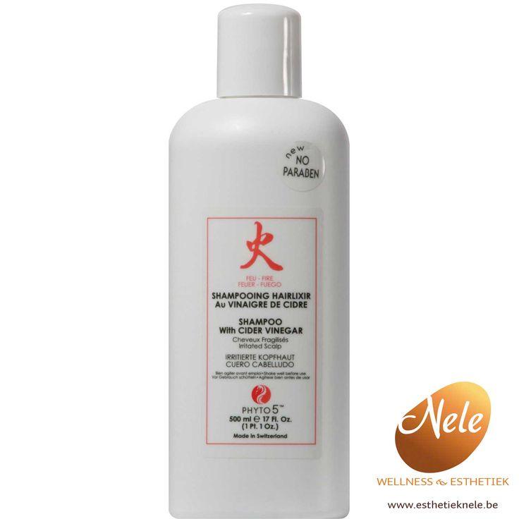 Phyto 5 Shampoo met Appelazijn is een speciale shampoo voor de geïrriteerde gevoelige hoofdhuid of beschadigd haar waar geen volume in zit