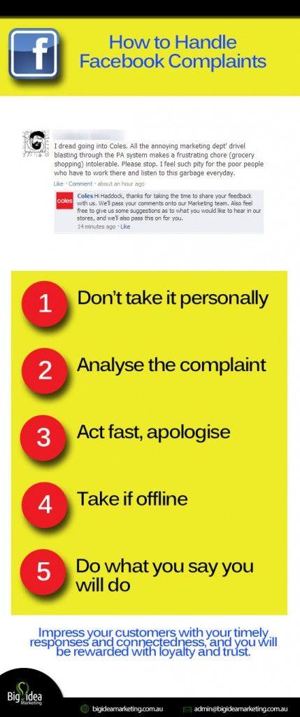 How to Handle Facebook Complaints | Big Idea Marketing #facebook