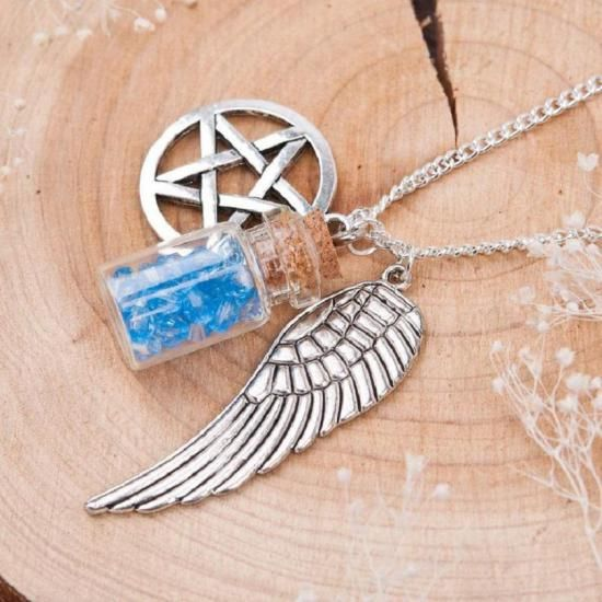 Supernatural necklace (Wing, Bottle & Pentagram)