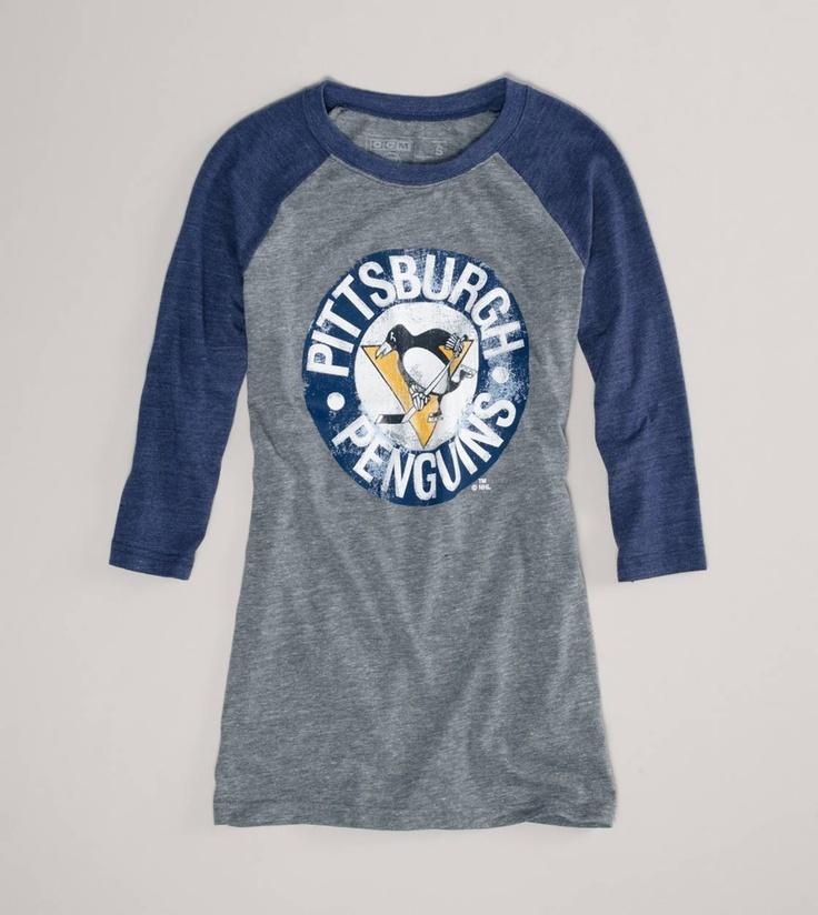 Pittsburgh Penguins NHL Raglan T