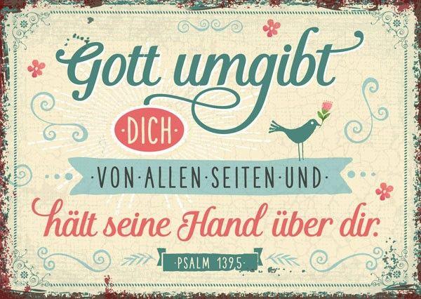 Postkarte – Gott umgibt Sie von allen Seiten   – taufe