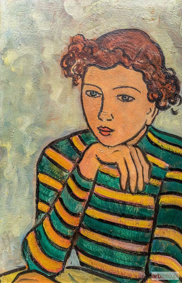 Tymon NIESIOŁOWSKI ● Dziewczyna w bluzce w paski ●