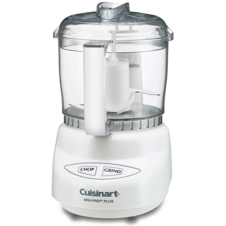 The perfect tool for small food preparation, the Mini-Prep Plus food processor from Cuisinart makes it easy to process both hard and soft foods. Fabricated from durable white plastic, it can quickly and easily chop vegetables and herbs, or grind bread crumbs and hard cheeses with it's stainless steel blade.