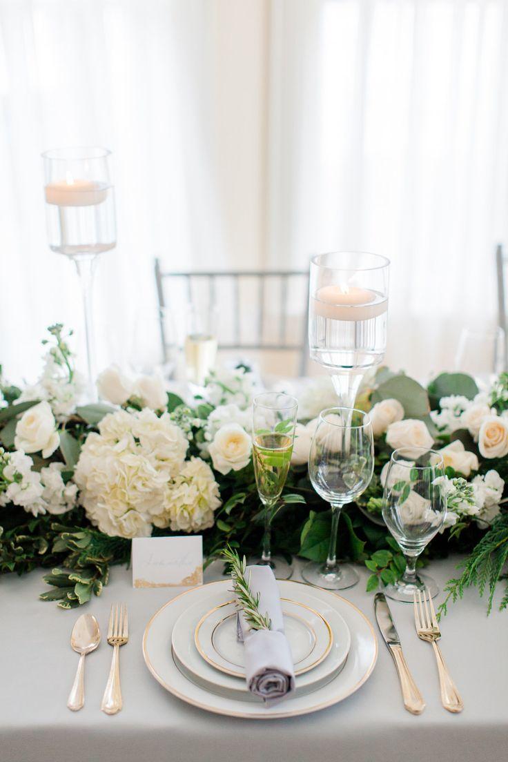 White rose centerpiece