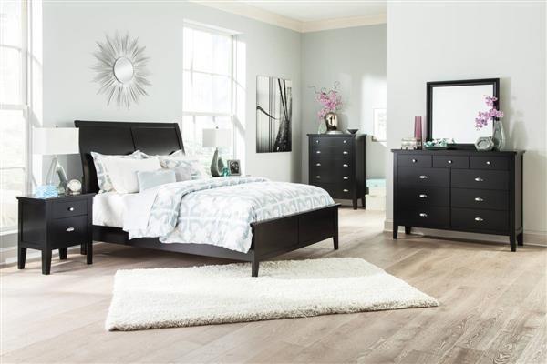 braflin contemporary black master bedroom set